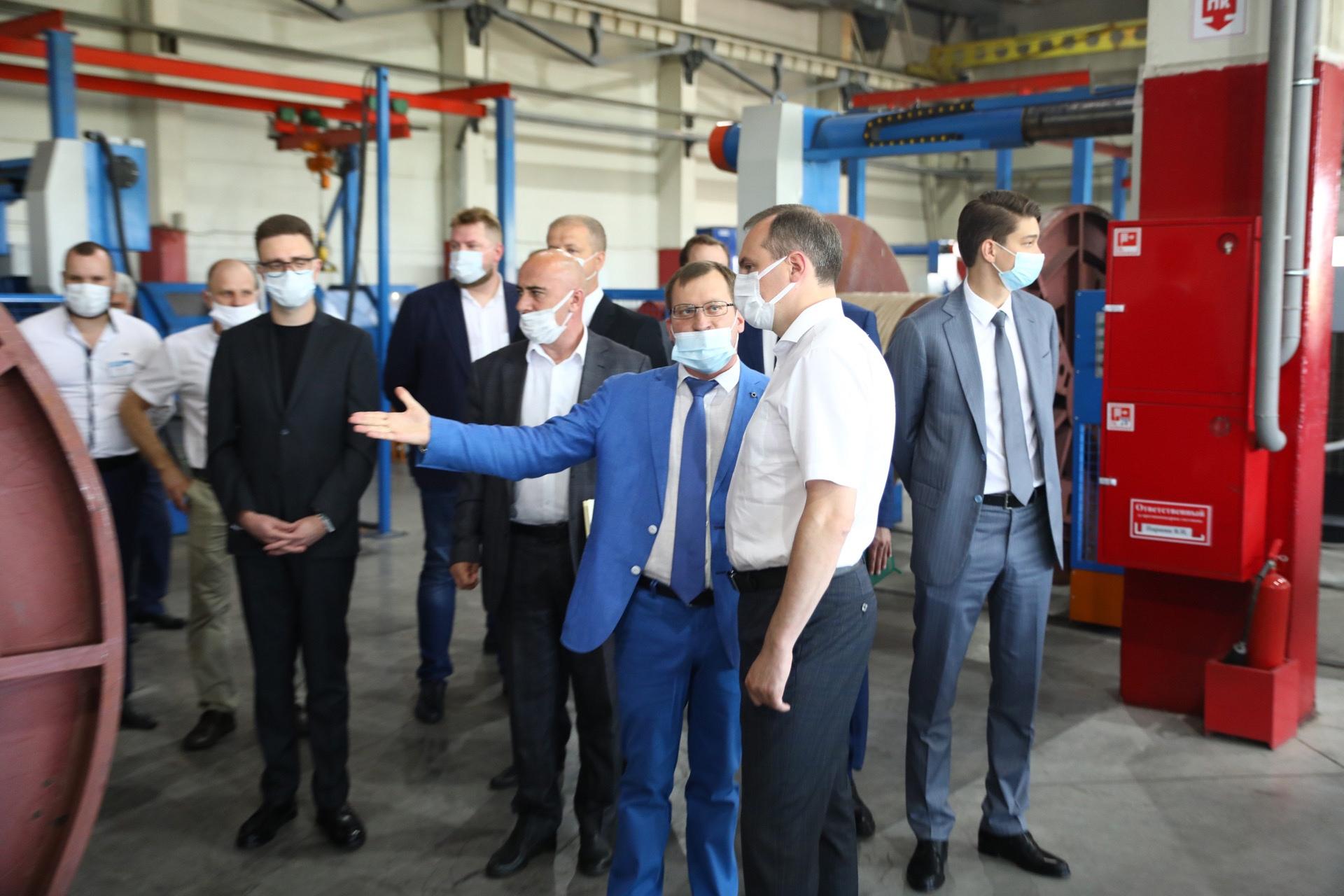 Визит Врио Главы Мордовии Артёма Здунова на кабельный завод